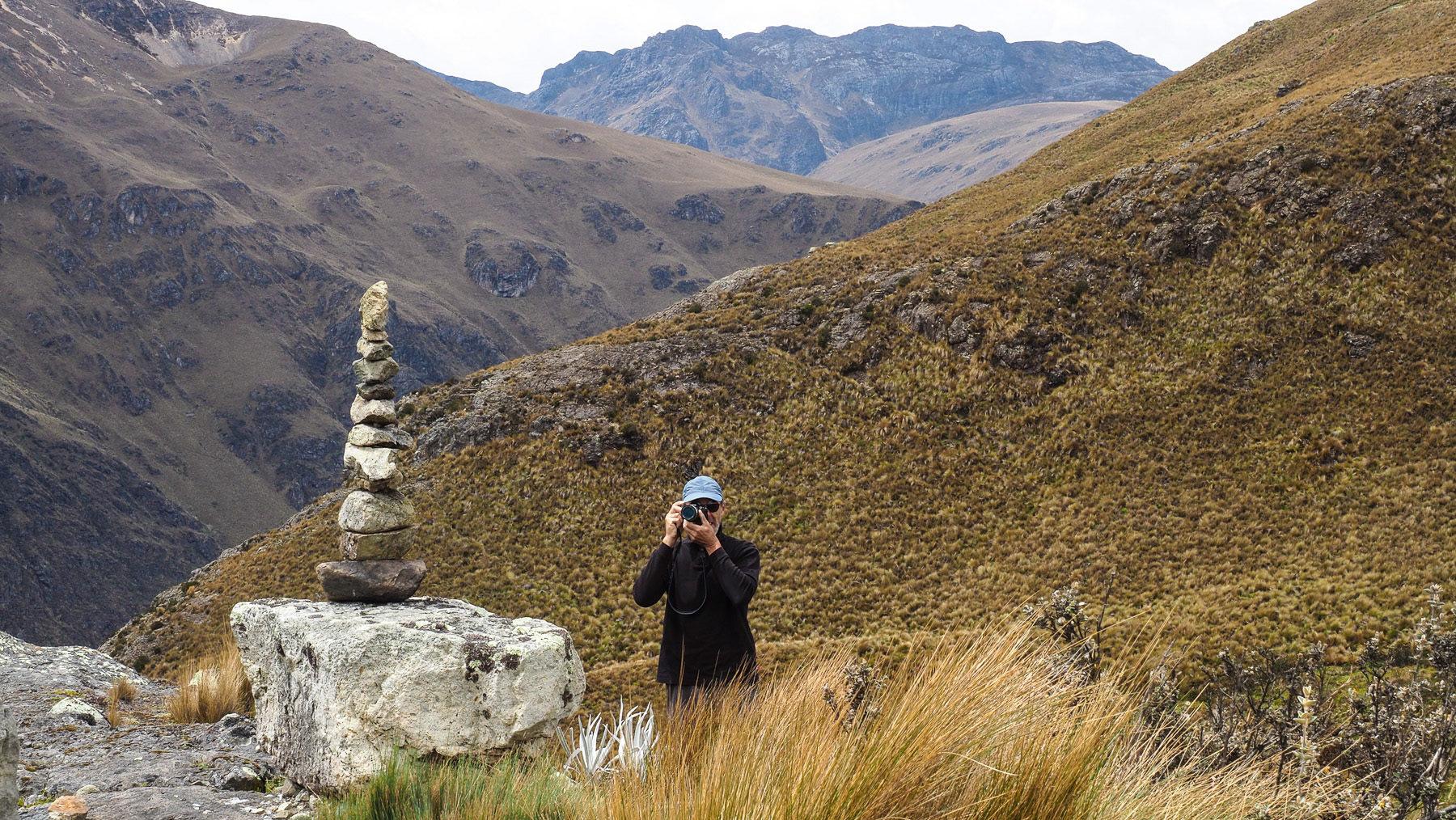 Georg's Stoamanderl am höchten Punkt unserer Wanderung