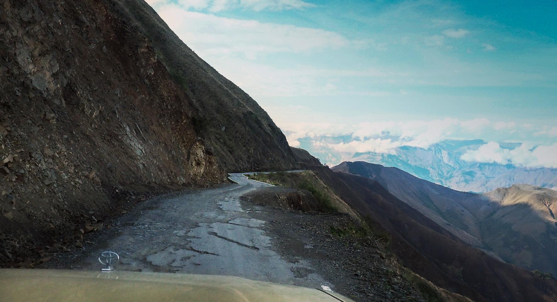 Auf abenteuerlichen Straßen zum Gebiet der Chachapoyas