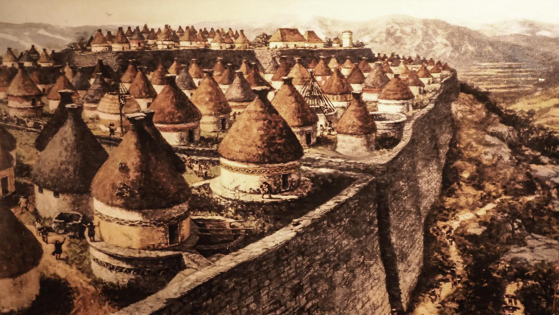 Model von Kuelap – seltsame Siedlung der Chachapoyas vor ca. 1000 Jahren