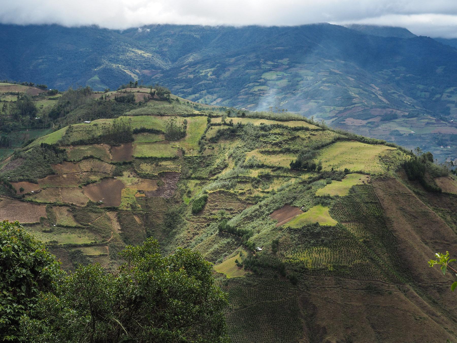 Landwirtschaft nicht in den engen Tälern sondern hoch oben auf den Berghängen