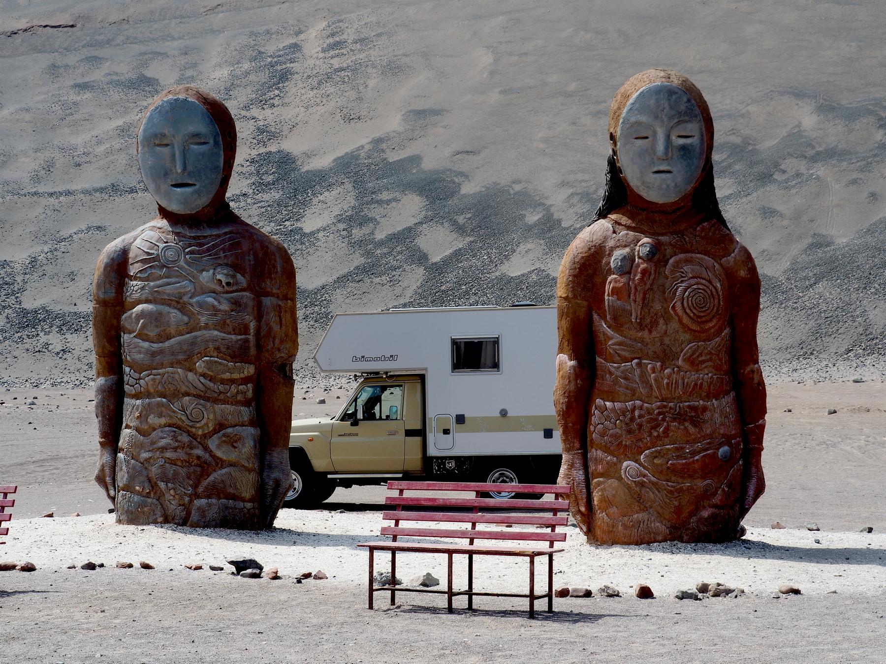 Den ältesten bekannten Mumien nachgebildet