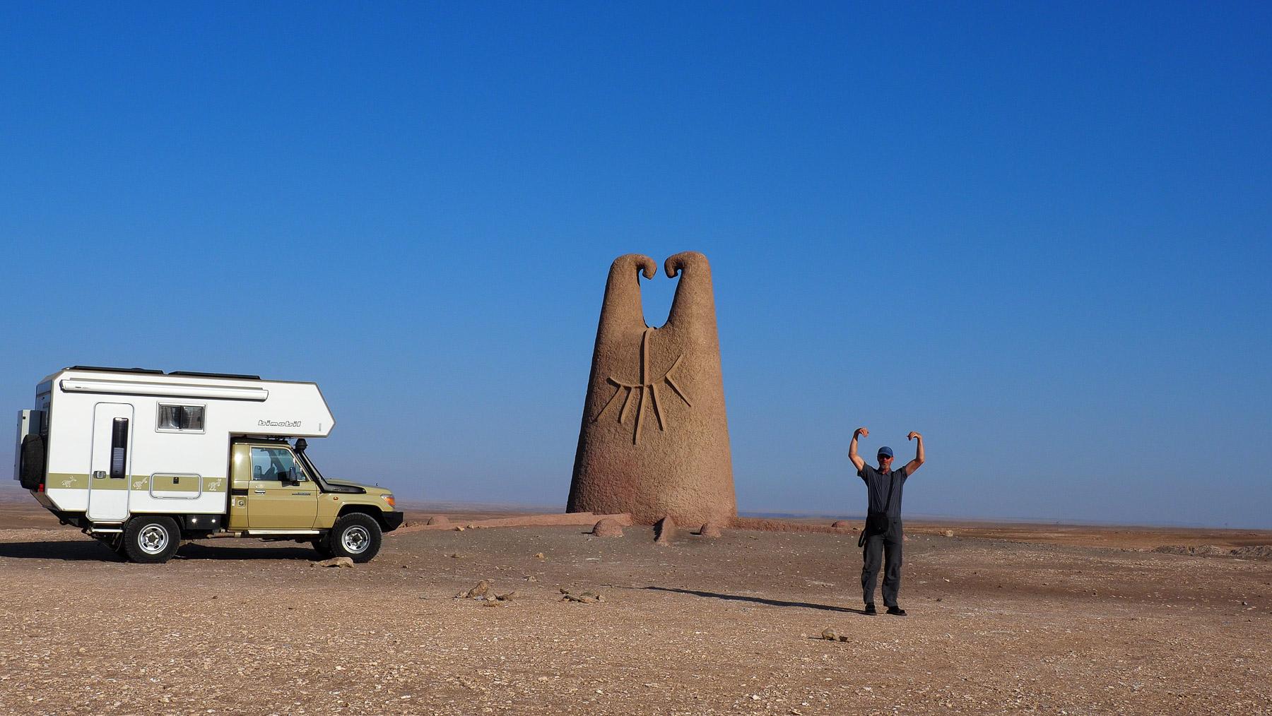 Faxen in der Wüste