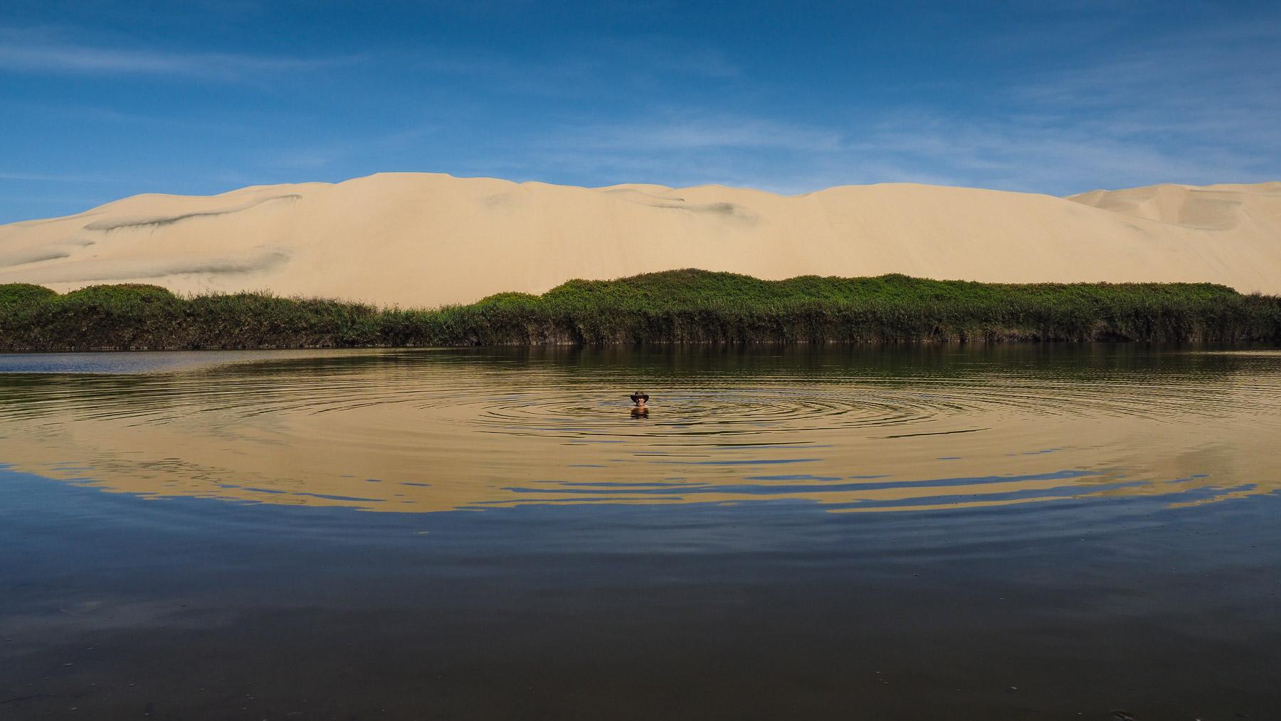 Etwas abseits gelegen: Laguna Moron