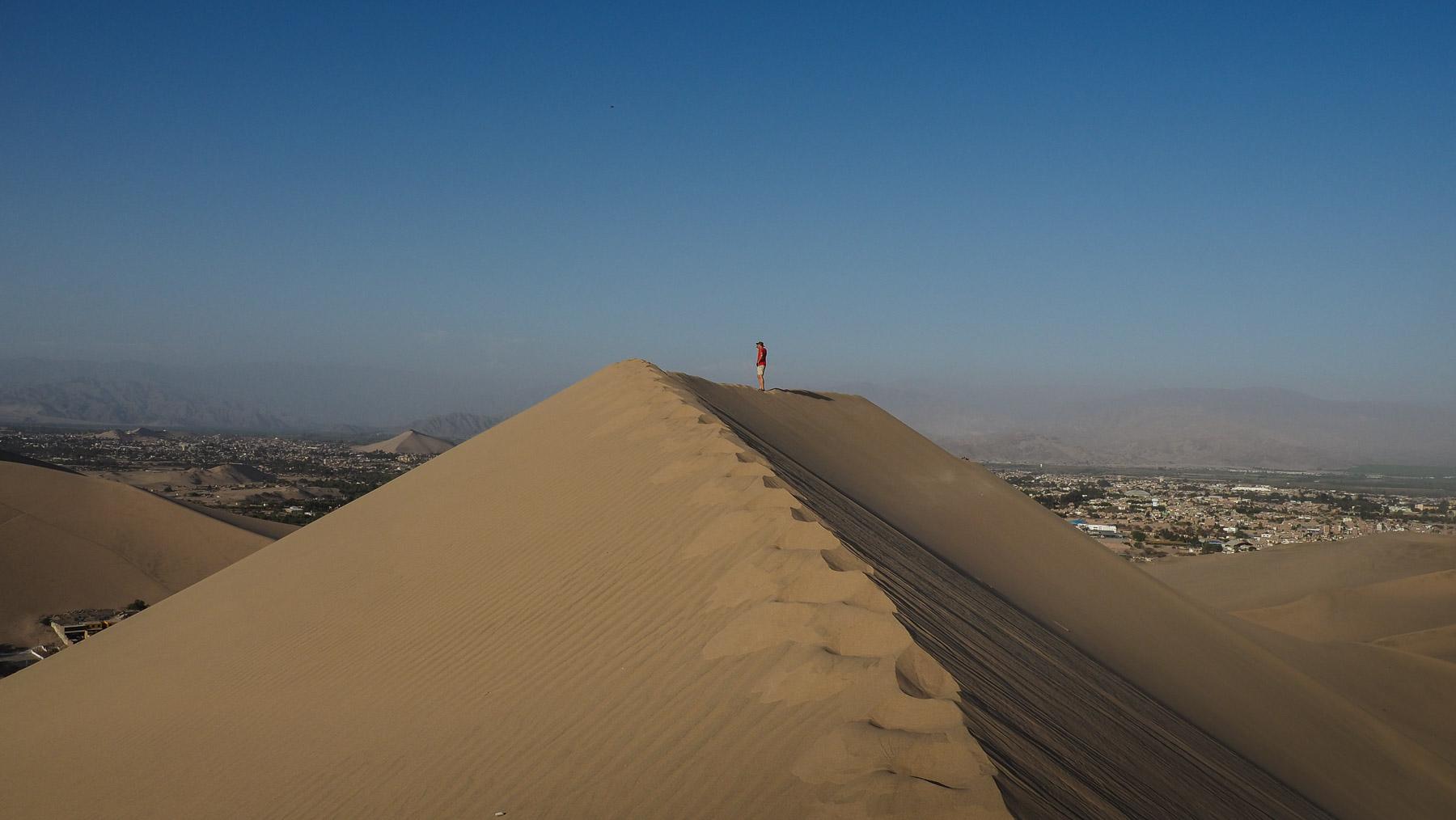 Die Dünen sind hier ganz schön hoch