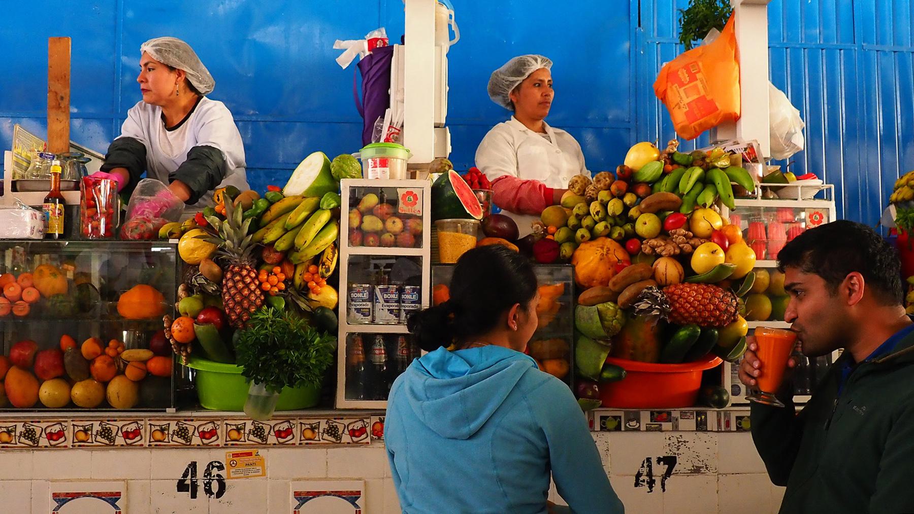 Sehr leckere Fruchtsäfte auf dem Markt