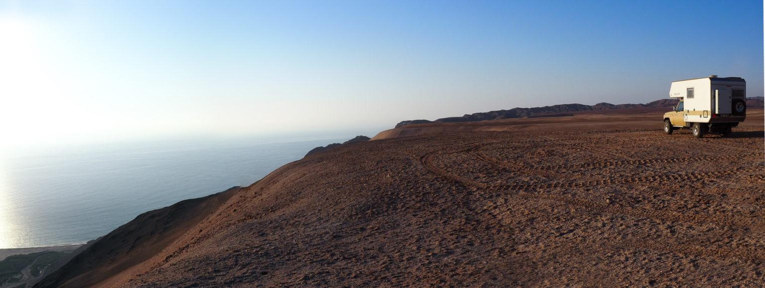 Herrlicher Blick von der Steilküste über den Pazifik