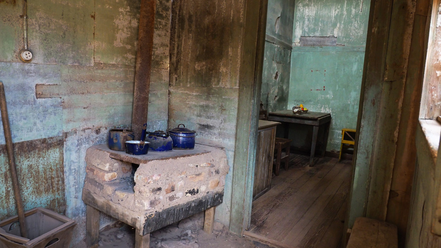 Verlassene Wohnhäuser in Humberstone