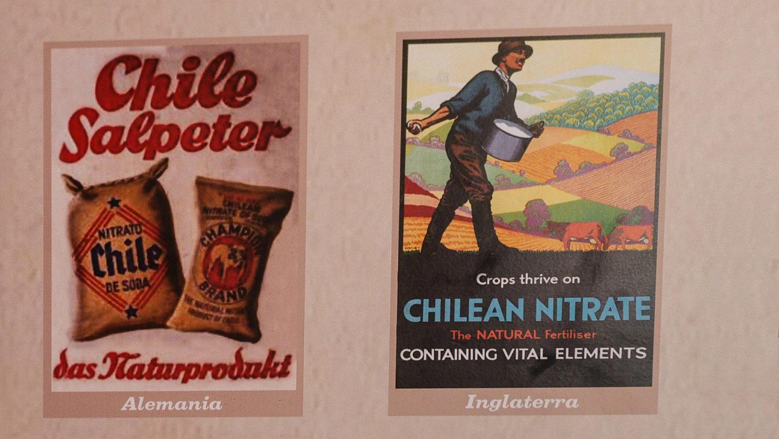 Alte Salpeter Werbeplakate