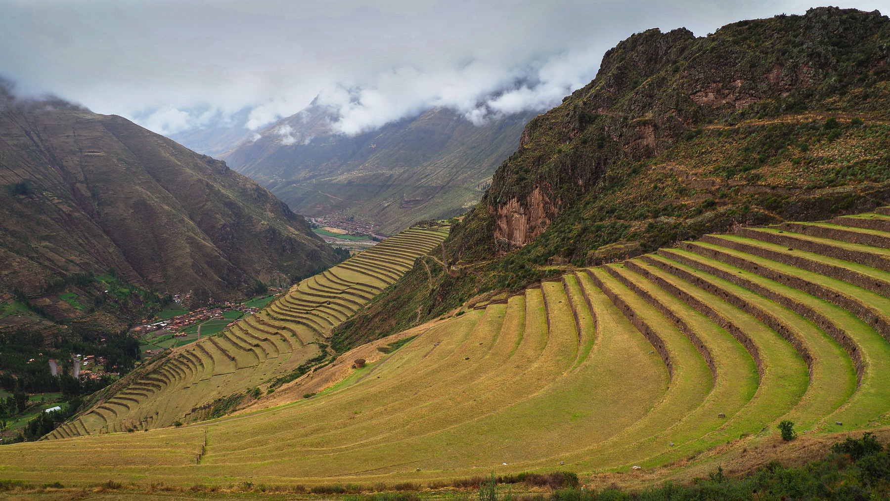 Blick von Pisaq in das heilige Tal der Inkas