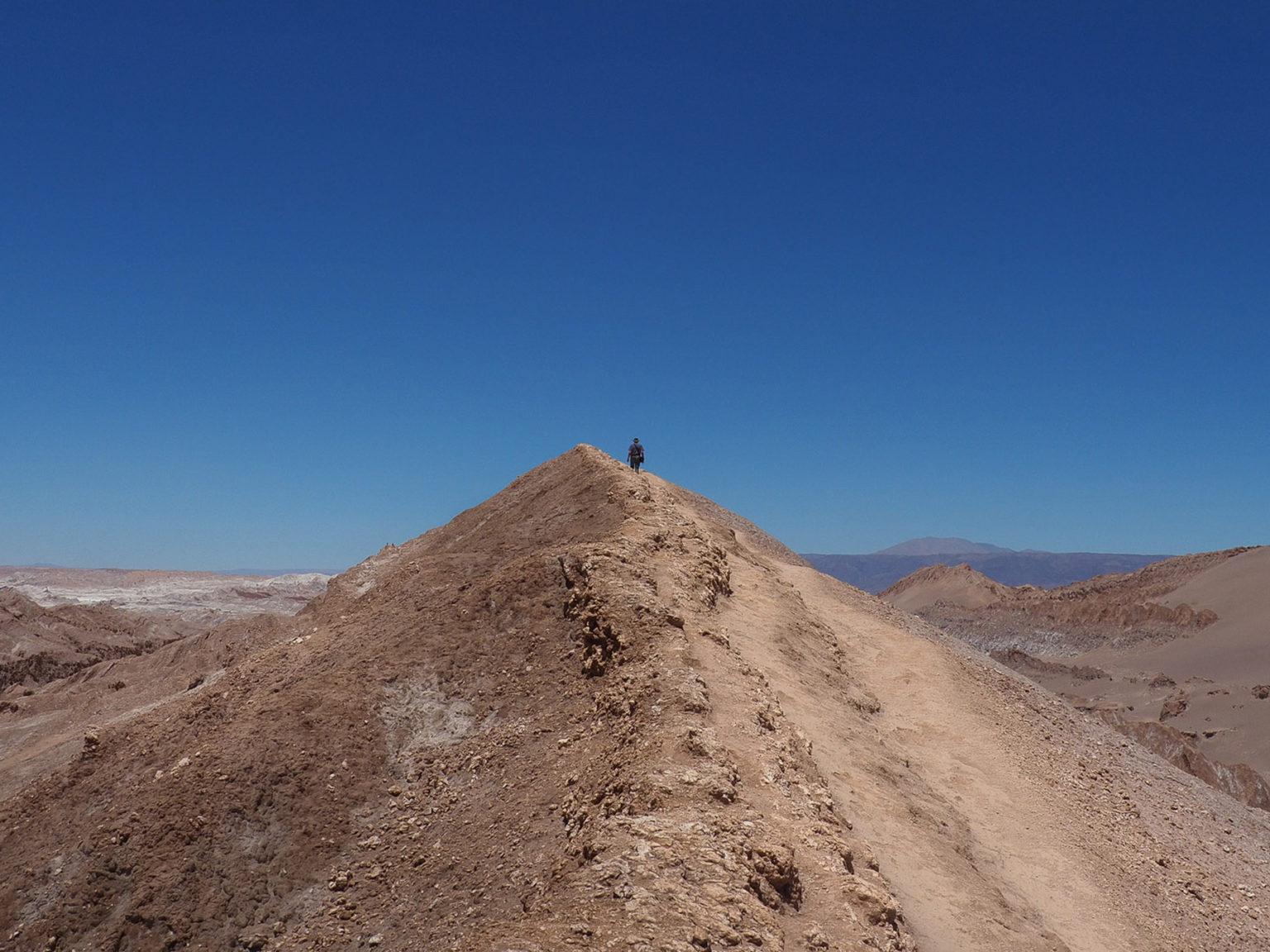 Im Valle de la Luna in der Atacama Wüste