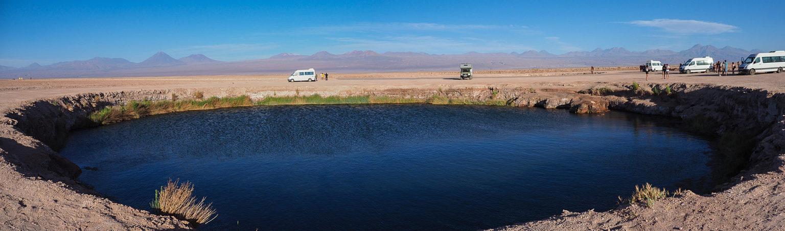 Ojos de Salar im Atacama Salzsee