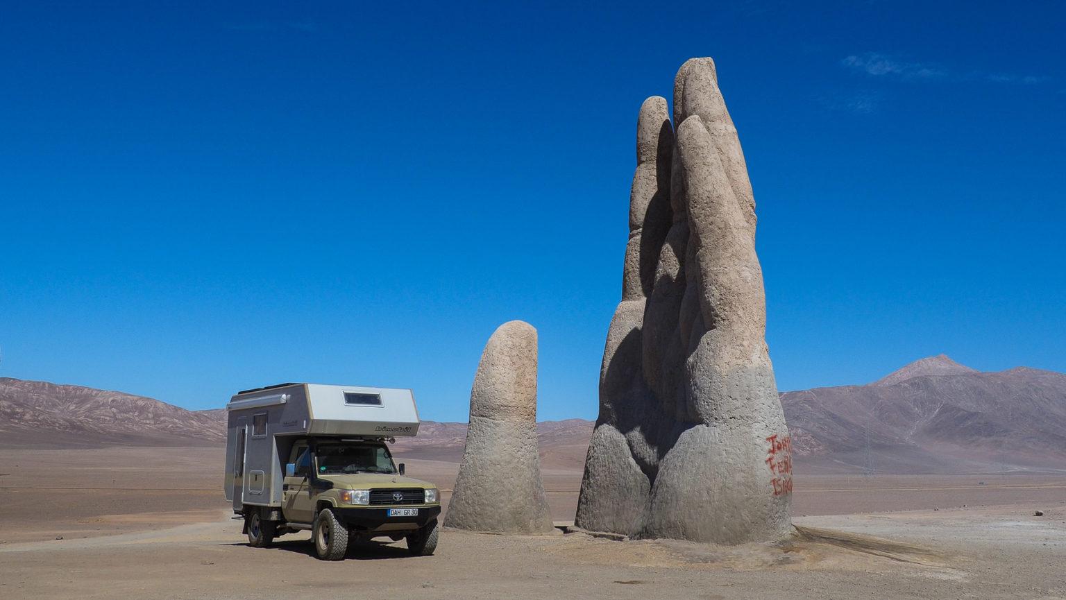 Mano del Desierto an der Panamericana