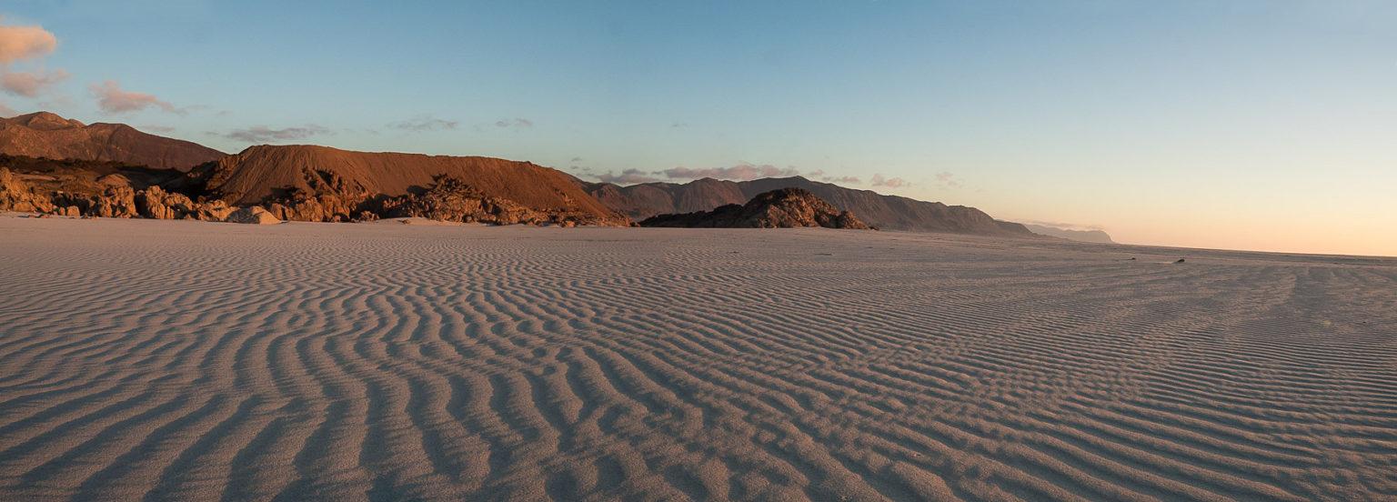 Unberührter Sand so weit das Auge reicht