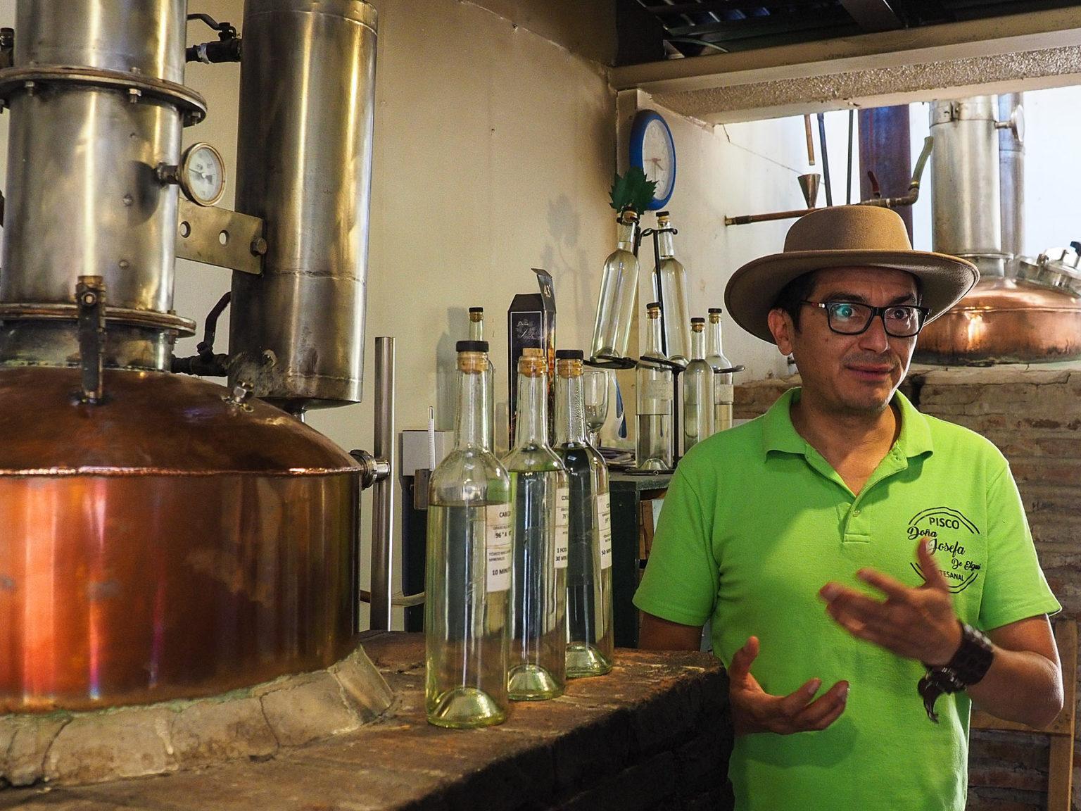 Besuch in einer kleinen Pisco Destillerie