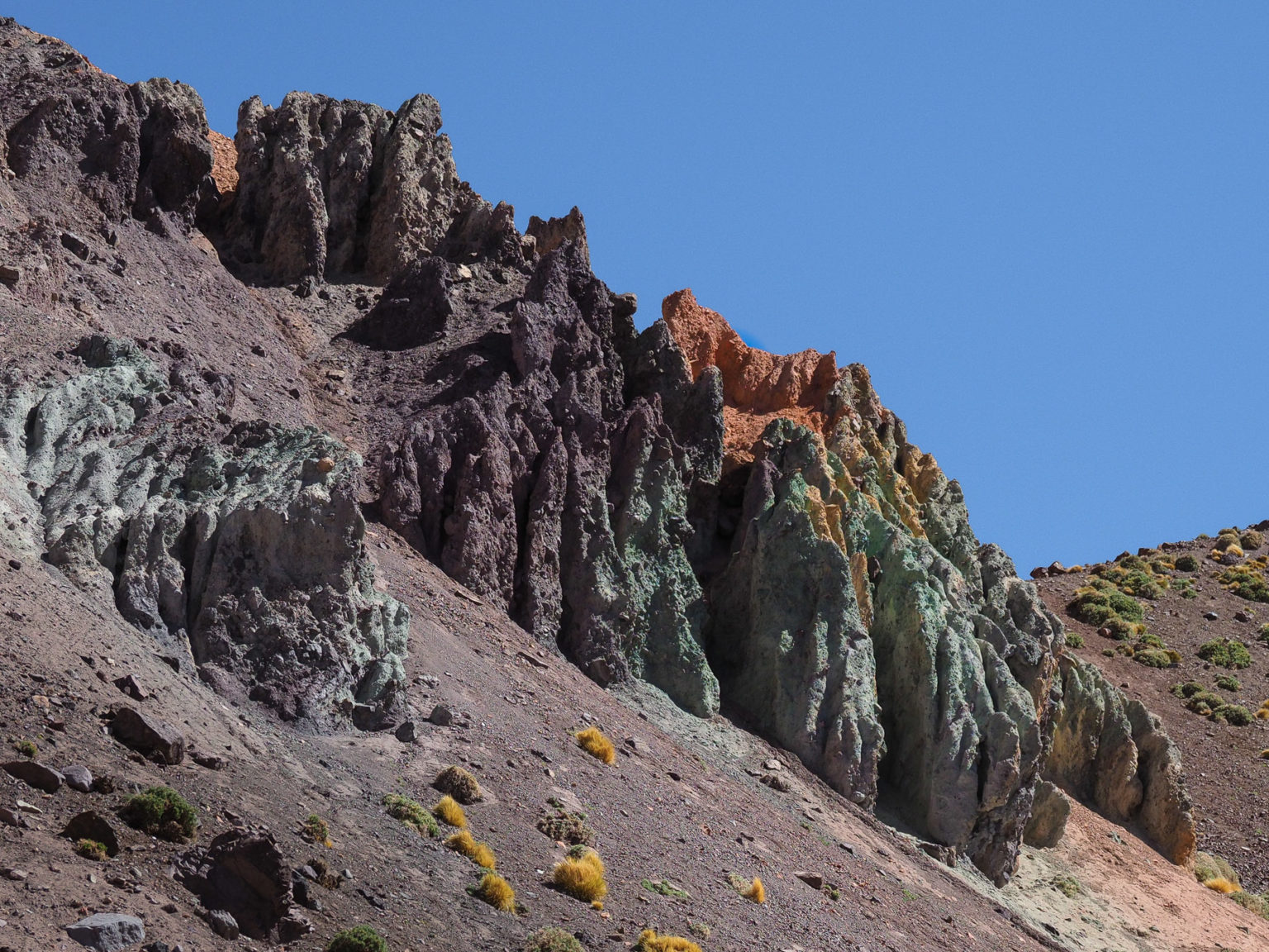Die bunten Berge am Paso Agua Negra