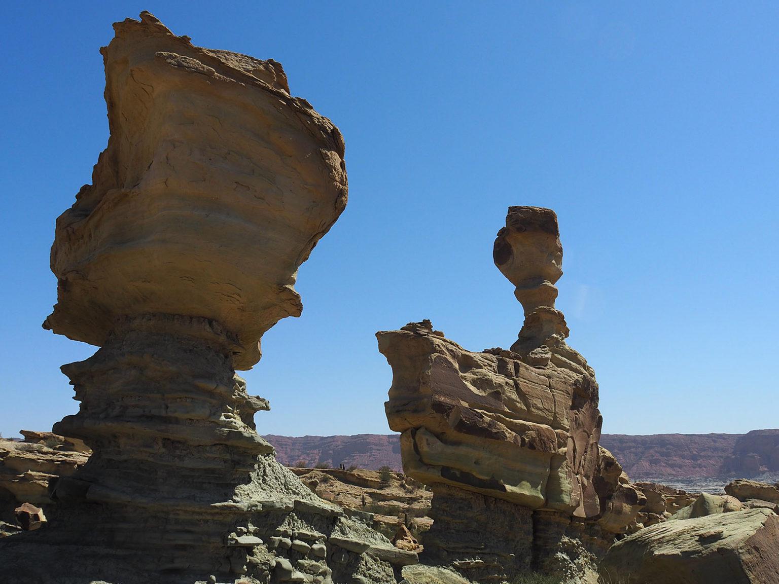 …die verschiedensten Felsformationen zu entdecken