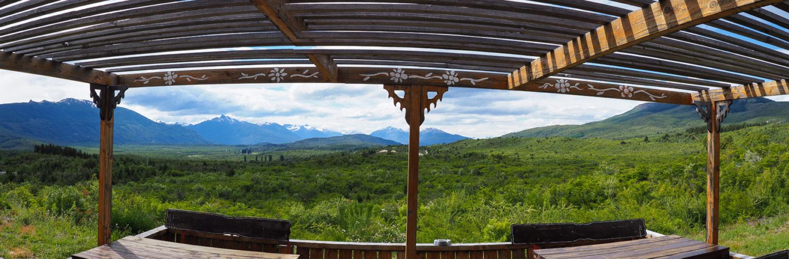 Ein Blick von der Terrasse wie in Kanada