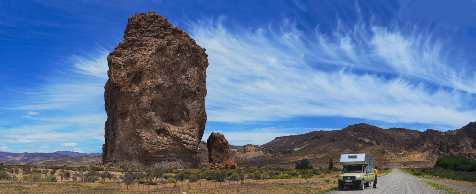 Der Piedra Parada auf dem Weg Richtung Atlantik