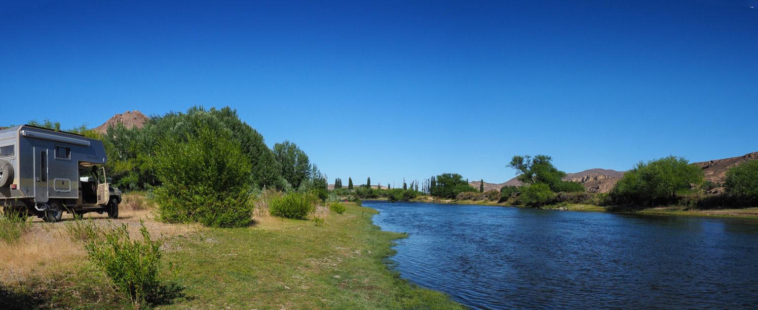 Immer entlang des wunderschönen Rio Chubut
