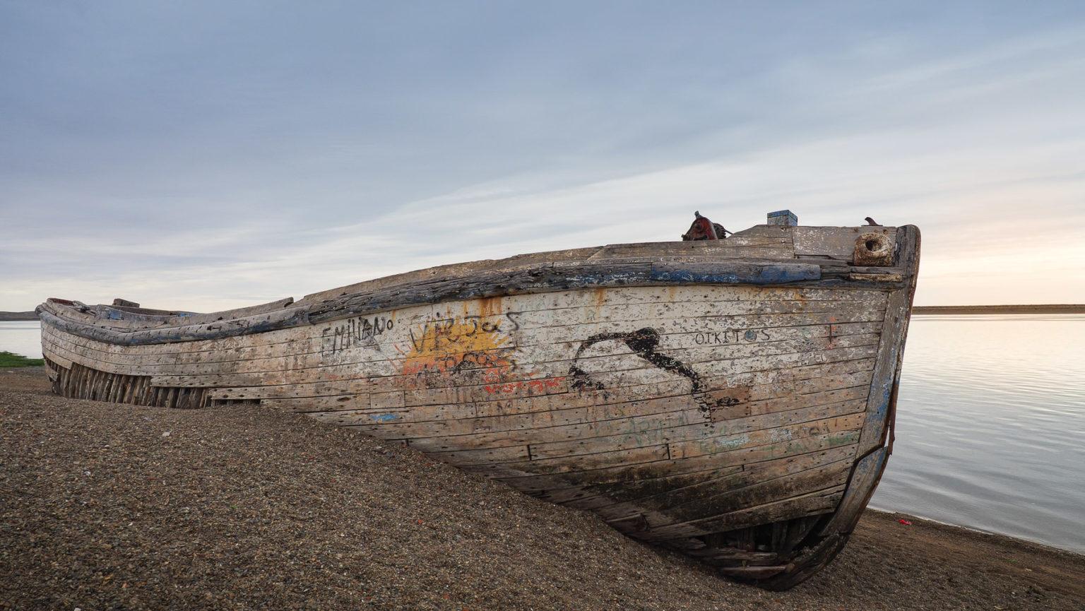 Schiffswrack im tiefen Süden von Argentinien