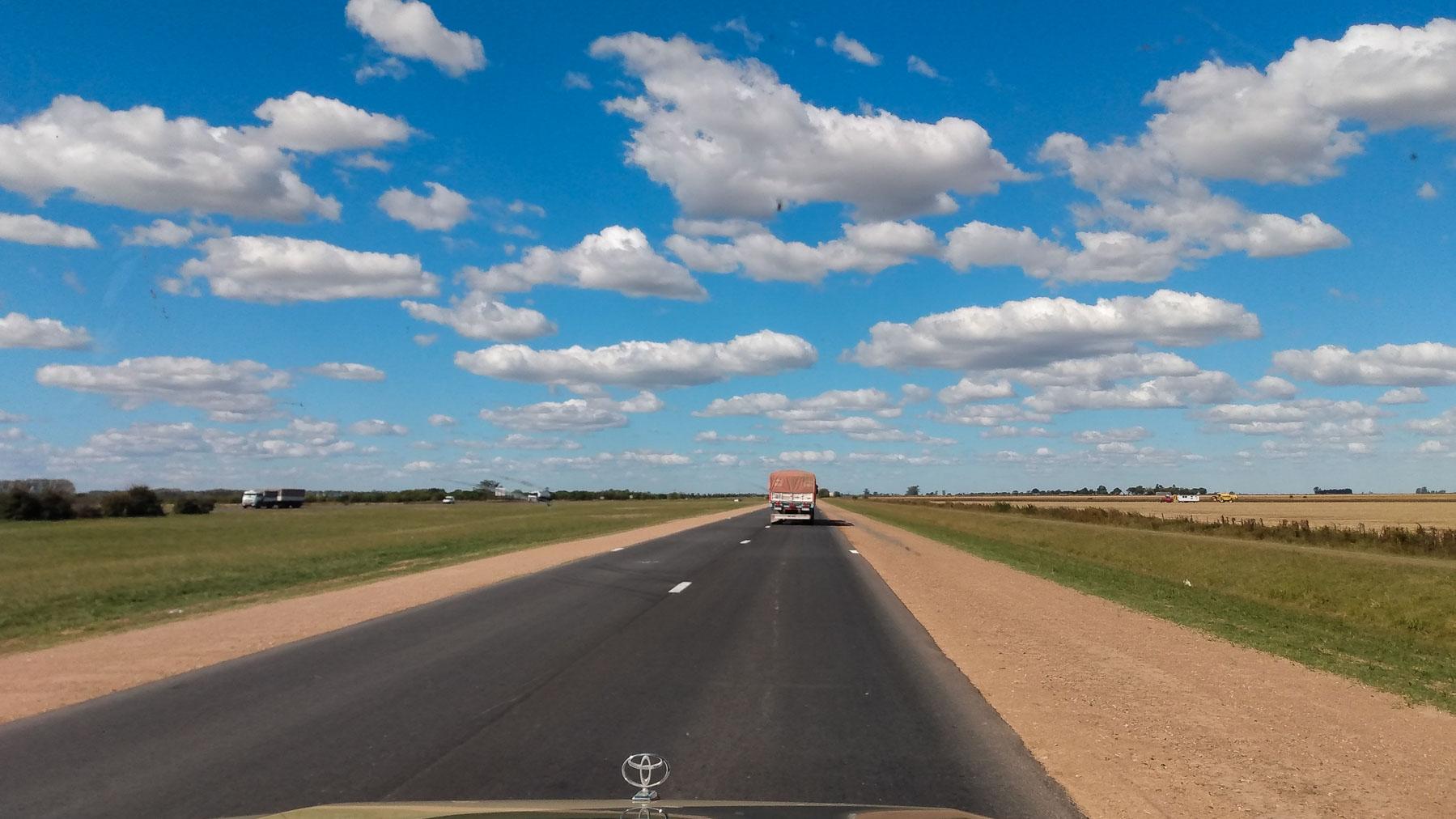 Die Autobahnen sind fast leer