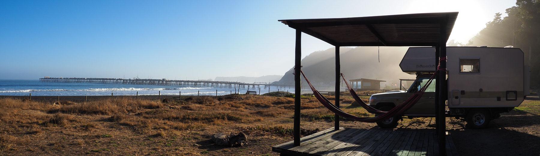 Platz mit Aussicht im Surfcamp