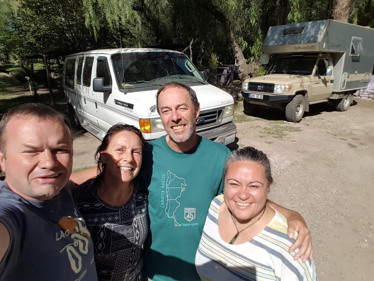 In Mendoza treffen wir die lustigen Kiwis