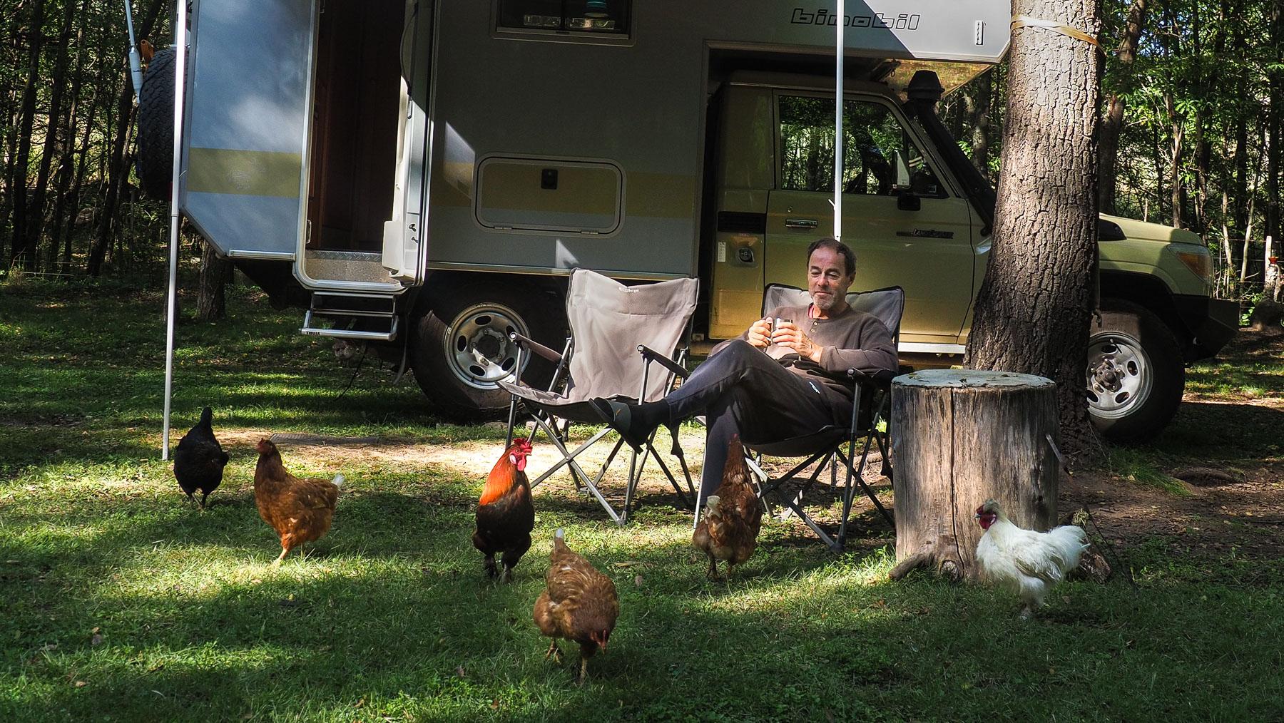 ... und das Füttern der Hühner prägen unsere Tage