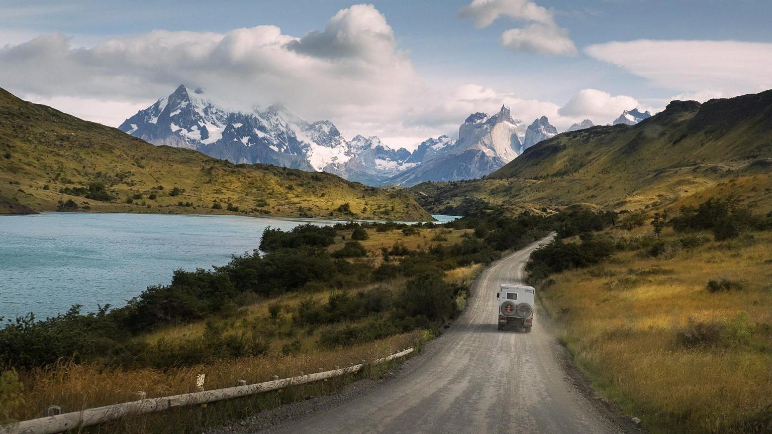 Anfahrt zum Torres del Paine Massiv