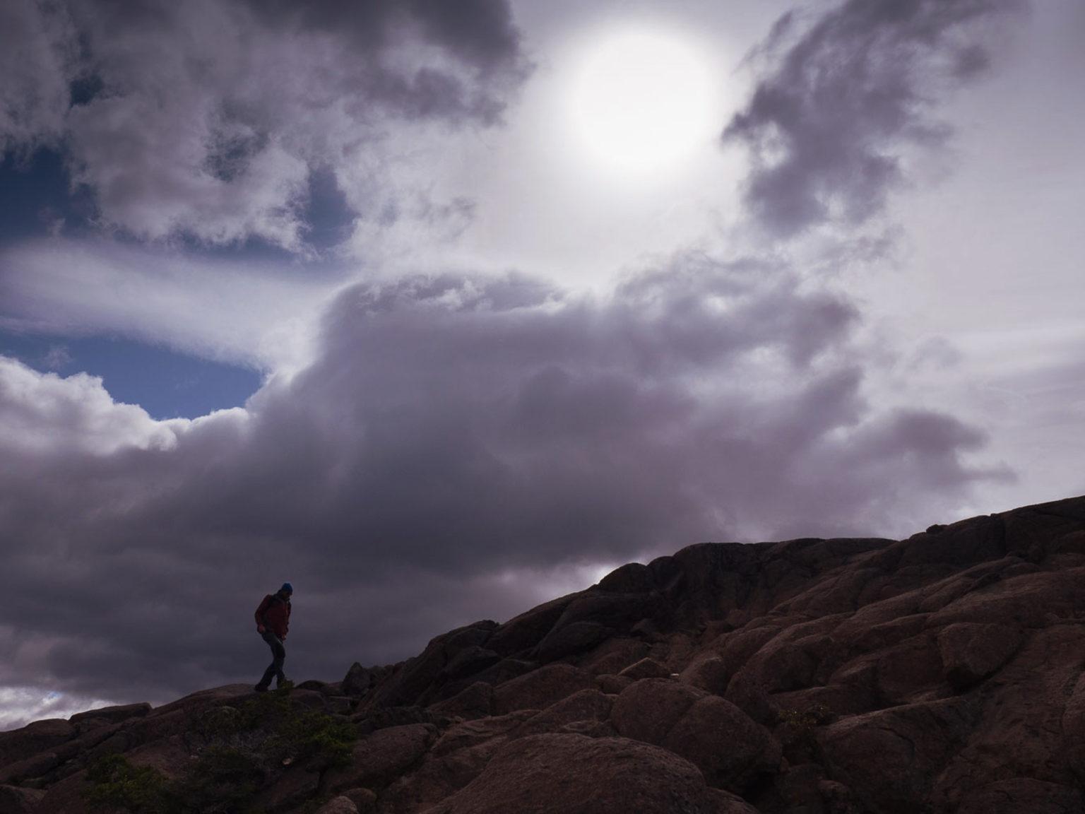 Kleine Wanderung, als die Wolken endlich aufreißen