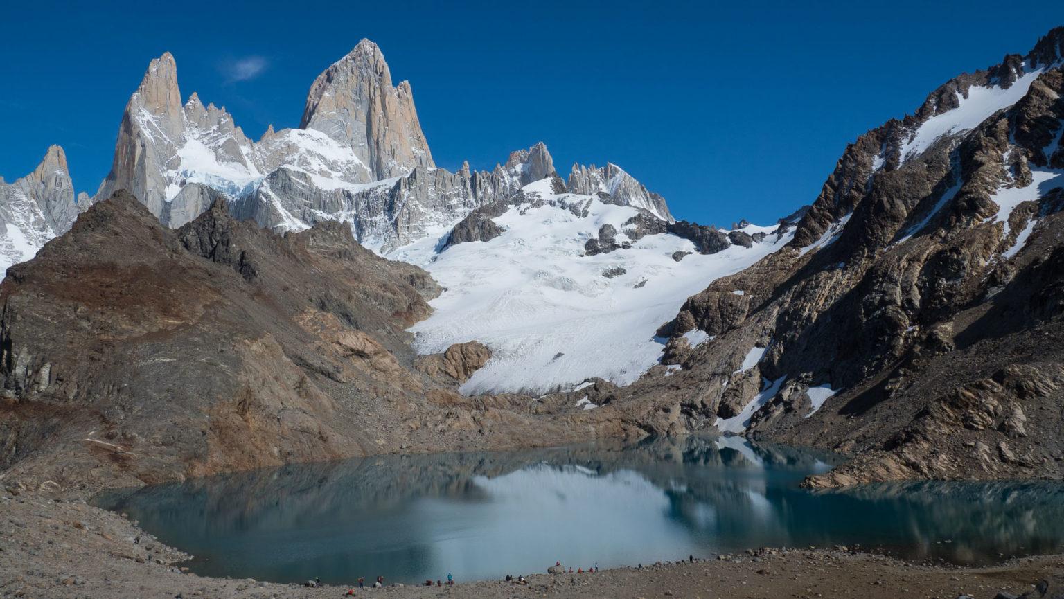 Großartiges Panorama am Gletschersee mit Fitz Roy