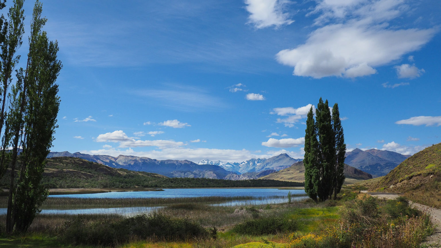 Hübsche Landschaft im Parque Patagonia