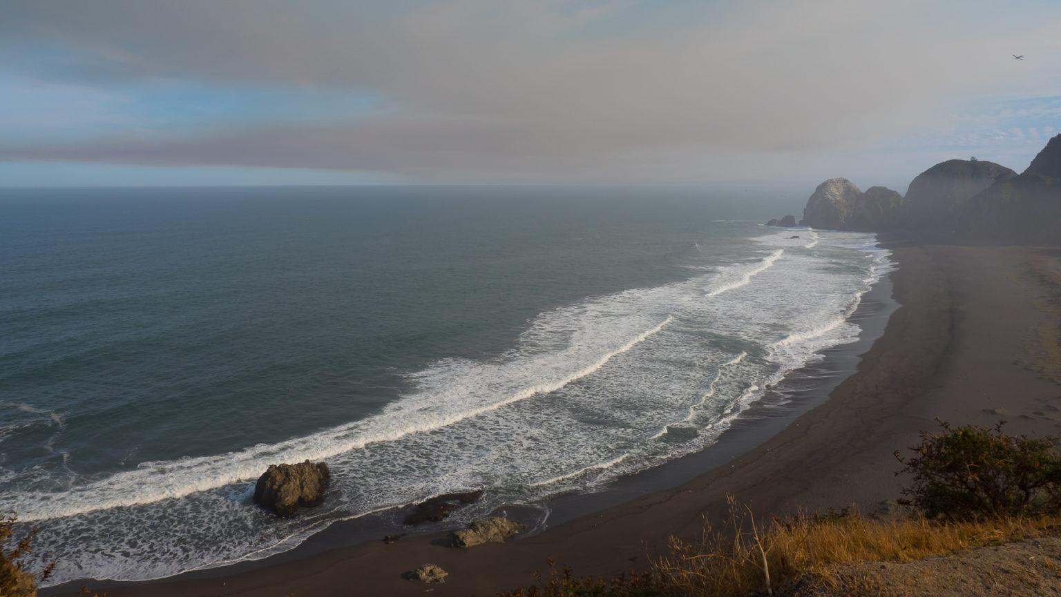 Letzter Blick auf den Pazifik