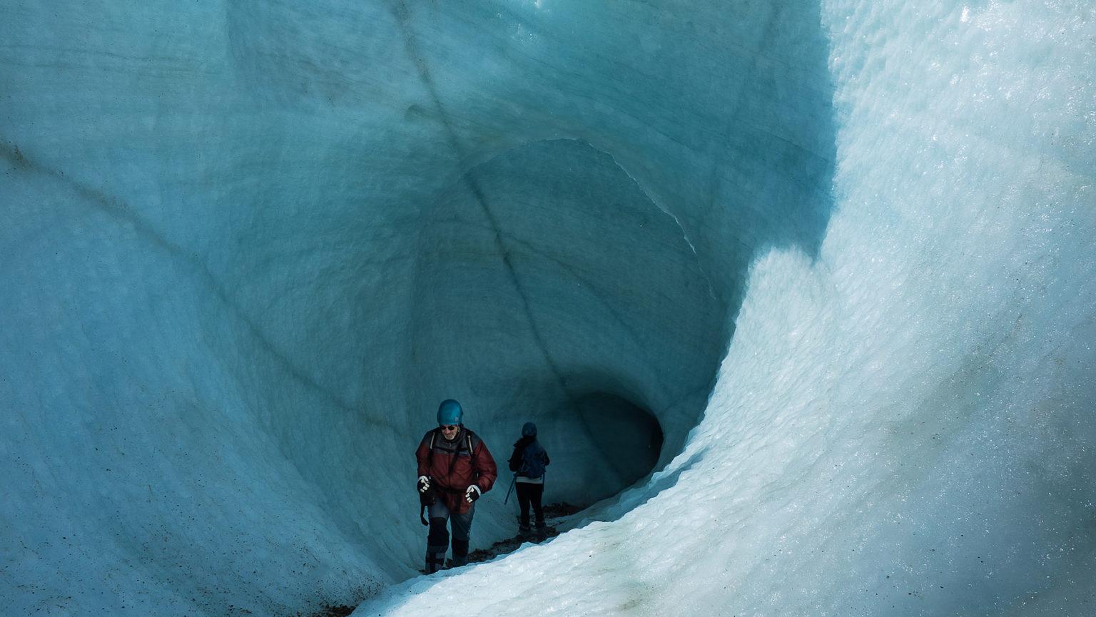 Tief hinein, ins Eis