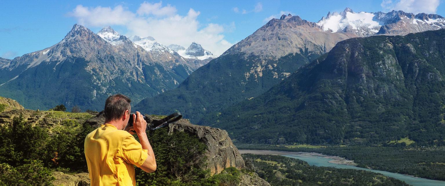 Berge und Gletscher in Patagonien