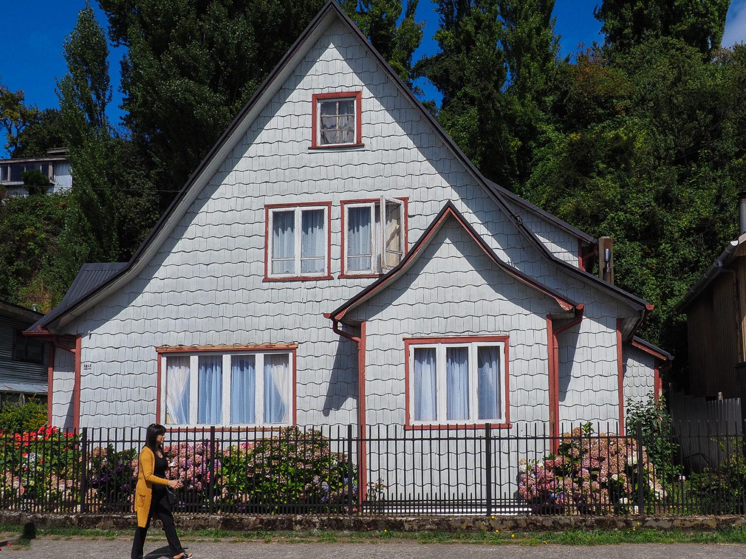 Gemütliche keine Holzhäuschen auf Chiloe