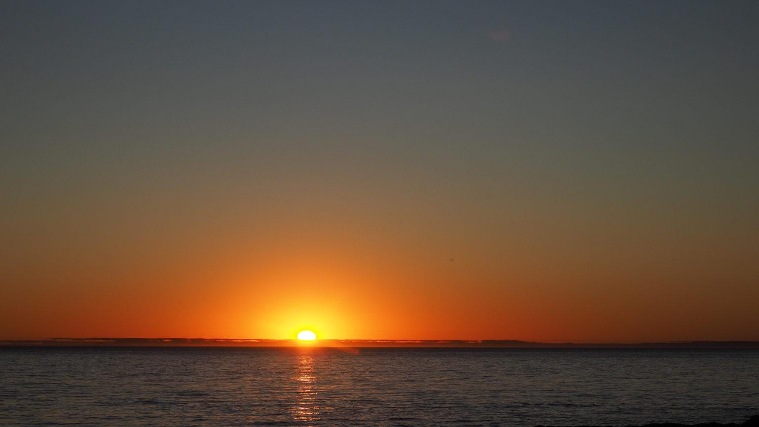 Sonnenuntergang am letzten Tag im wilden Patagonien