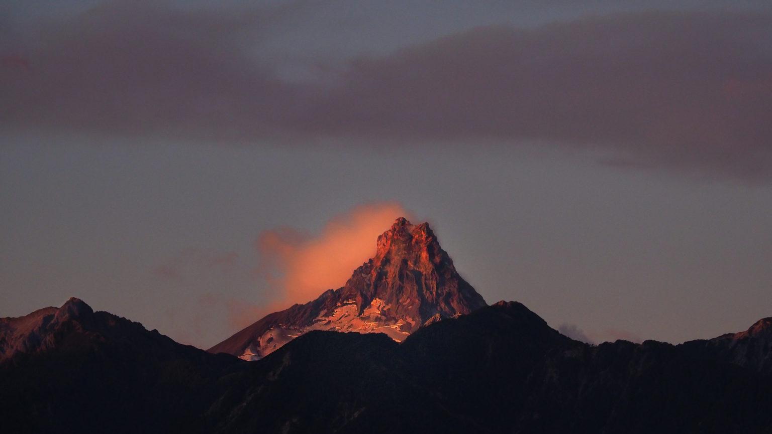 Abendstimmung im Seengebiet von Chile