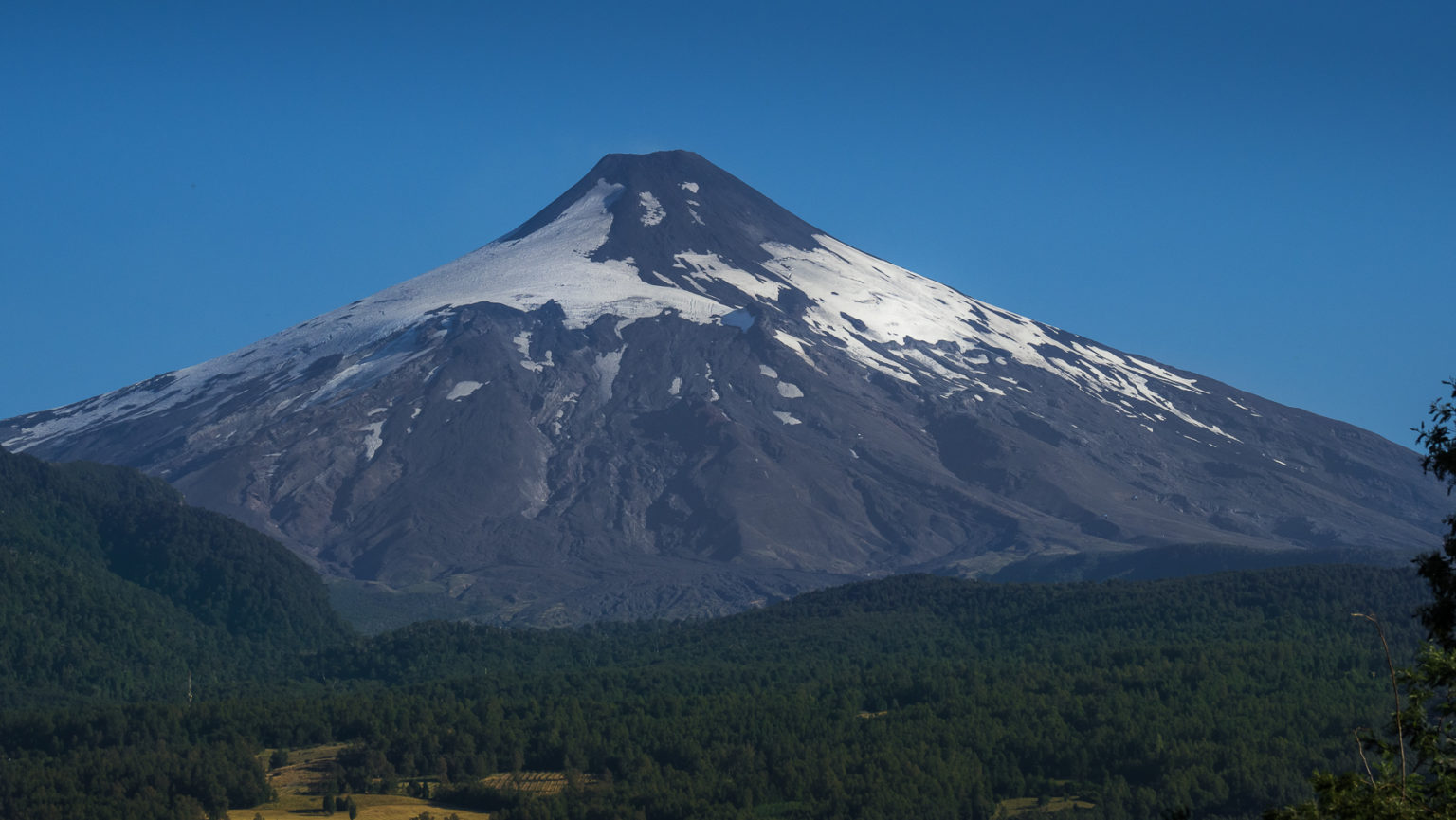 Der aktive Vulkan Villarica