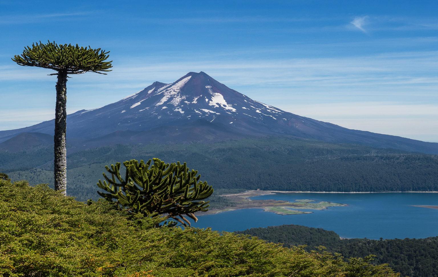 Ein guten Blick auf den Vulkan Llaima